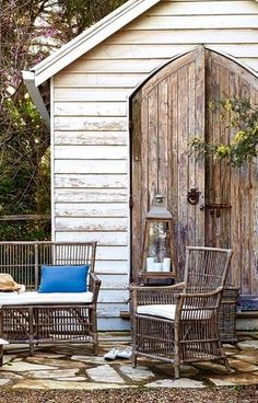 Ryan Shed Plans Shed Plans and Designs For Easy Shed Building! Backyard Office, Backyard Studio, Backyard Projects, Outdoor Sheds, Outdoor Rooms, Outdoor Living, Outdoor Decor, Portal, Yard Sheds