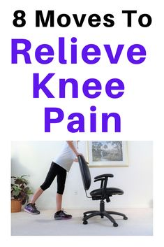 8 Exercises To Relieve Pain In Achy Knees - Fitness With Cindy Sore Knees, Bad Knees, Weight Loss Challenge, Weight Loss Program, Easy Workouts, At Home Workouts, Exercise At Home, Beginner Workouts, Health Exercise