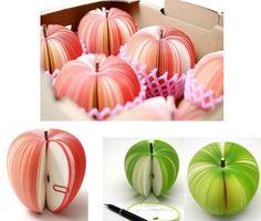 Frische Geschenkidee - Notizblock Apfel zum Muttertag
