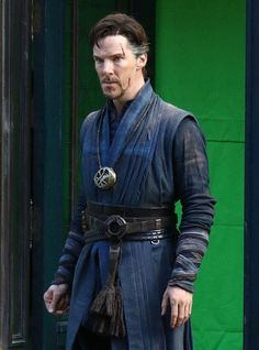 DOCTOR STRANGE ~ Benedict Cumberbatch filming in New York City on April 2, 2016.
