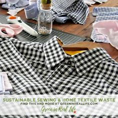 Sustainable Sewing and Home Textile Waste - Green in Real Life Crafts From Recycled Materials, Craft Materials, Textile Recycling, Sewing Material, Recycling Programs, New Uses, Polar Fleece, Covered Buttons, Fabric Scraps