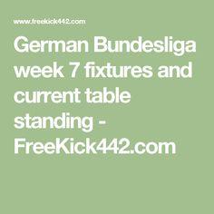 German Bundesliga week 7 fixtures and current table standing - FreeKick442.com