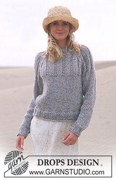 DROPS Pullover in Alpaca and Cotton Viscose ~ DROPS Design