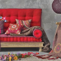 african sofa | African decor and fabric patterns and used for decorating modern sofas ...