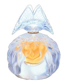 Lalique 2003 Butterfly Lalique icy glass perfume bottle