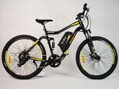 Heyman Mountain Bike Electric bicycle 26in 500Watt 48V Lithium Battery Yellow
