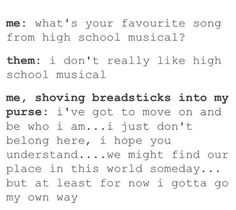 "This goodbye that any true fan would make in this situation: | Community Post: 23 Hilarious Tumblr Posts About ""High School Musical"" That'll Make You Nostalgic AF"