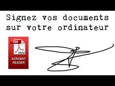 Comment signer vos documents directement sur votre ordinateur - YouTube
