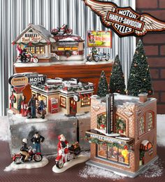 Department 56 Original Snow Village Harley Davidson Collection www.department56.com shop.department56.com  HARLEY, HARLEY-DAVIDSON and the Bar & Shield Design are among the trademarks of H-D U.S.A., LLC ©2013 H-D and its Affiliates. All Rights Reserved. Department 56 is a licensee of Harley-Davidson Motor Company.