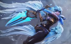 Dawnbringer Riven (with some tips ) by vahid ahmadi | Fan Art | 3D | CGSociety