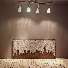 HOUSTON or DALLAS - Even NEW YORKS PRE-9/11 SKYLINE Would be awesome. Image result for joburg skyline string art