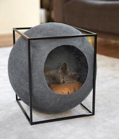 20 Cool Cat Beds For Your Furry Friend - Kitties - Katzen Cool Cat Beds, Cool Cats, Ideal Toys, Cat Room, Pet Furniture, Furniture Design, Furniture Makeover, Contemporary Cat Furniture, Bedroom Furniture