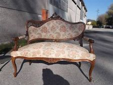 ITALIAN ANTIQUE WALNUT LOUIS XVI ORIGINAL DESIGNER SOFA - 13IT076D