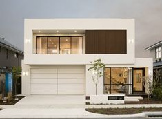 Display Homes Perth - One & Two Storey Homes Glass House Design, House Gate Design, House Front Design, Modern Exterior House Designs, Modern Architecture House, Modern House Plans, Luxury Modern Homes, Luxury Homes Dream Houses, Home Building Design