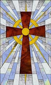 Résultat d'images pour Christian Stained Glass Quilt Patterns Free Stained Glass Church, Stained Glass Quilt, Stained Glass Projects, Stained Glass Patterns Free, Stained Glass Designs, Cross Patterns, Quilt Patterns Free, Stain Glass Cross, Cross Quilt