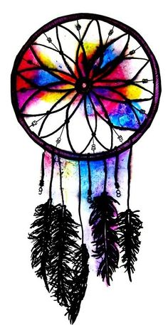 Dream Catcher in Watercolor via http://cali-connection.tumblr.com/