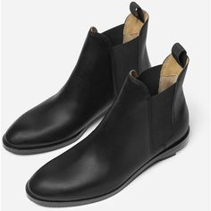 The Chelsea Boot - Black (13.875 RUB) ❤ liked on Polyvore featuring shoes, boots, ankle booties, black boots, chelsea boots, chelsea bootie, black chelsea boots and black ankle booties