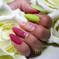 """Figure out additional relevant information on """"gel nail designs for fall colors"""". Check out our site. Spring Nails, Summer Nails, Cute Nails, Pretty Nails, Galeries D'art D'ongles, Nail Art Designs, Sculpted Gel Nails, Pointed Nails, Nail Effects"""