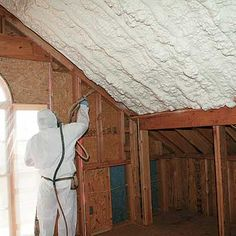 Why it pays to splurge on spray-foam roof insulation. & Photo: Courtesy of Certainteed Corporation. The post Read This Before You Finish Your Attic appeared first on Home Decor By Jessica. Attic Office, Attic Playroom, Attic Loft, Attic Rooms, Attic Spaces, Garage Attic, Attic Library, Attic House, Attic Apartment