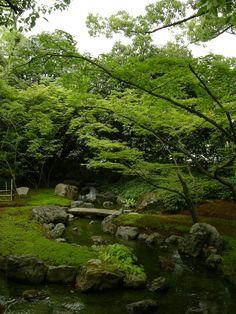 Heian period style garden in Jonangu