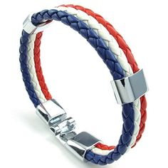 AnaZoz White Red Blue Mens Womens Cuff Bangle Bracelet 9 IN France French Flag. Perfect Valentine's Gift For Love His or Her. By AnazoZ Jewelry Shop Adopt Resist Allergy Material,Ensure Safety And Environmental Protection. Over 10000+ Offers High Quality Luxury Jewelry, Choose a Favorite Gift. 30-Day Money Back Guarentee.100% Secure Shopping. Any Questions by E-mail, You Will Get a Reply in 24 Hours.