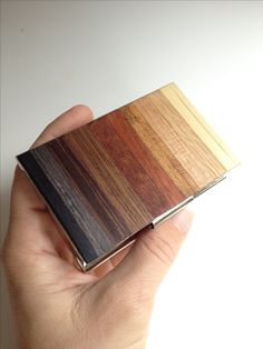 Wood business card holder and credit card case rosewood and teak exotic wood business card holder by wood brain colourmoves