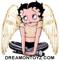 More Betty Boop graphics and greetings: http://bettybooppicturesarchive.blogspot.com/  ~And on Facebook~ https://www.facebook.com/bettybooppictures #Angel #BettyBoop