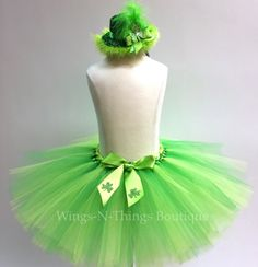 Check out ADULT ST PATRICKS Tutu Skirt Set w/ Green Leprechaun Hat Headband, Womans Costume, Women,  Irish, Shamrock, Clover, Running, Marathon, Party on wingsnthings13