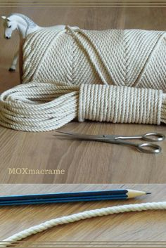 Macrame cord 4mm, Twisted cotton rope, Macrame cord, Macrame supplies, Macrame kit, 100% natural cotton rope, lengths: 25m, 60m, 100m US$12.00+