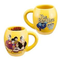 The Beatles Yellow Submarine 18 oz. Ceramic Oval Mug - The Beatles Yellow Submarine 18 oz. Ceramic Oval Mug will jump start any morning. This unique oval mug will fit so perfectly in your hand it will be hard to put down.