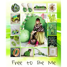 Free to Be Me: Unique Handmade Gifts in Green by paulinemcewen on Polyvore