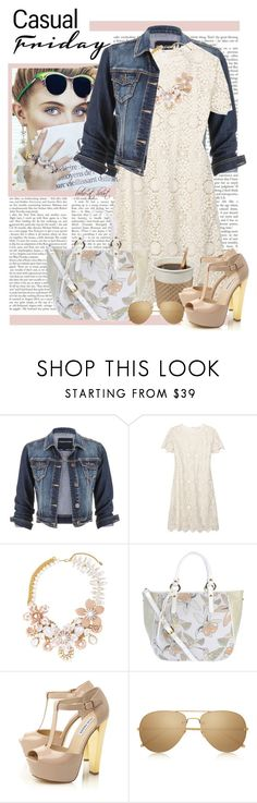 """""""60 Second Style: Casual Friday"""" by boho-at-heart ❤ liked on Polyvore featuring maurices, Tory Burch, Halo & Co., Braccialini, Steve Madden and Linda Farrow"""