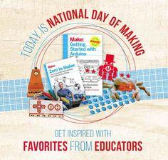 National Day of Making - Educator Favorites @MakerShed #STEM #DIY #MAKE #SkillsGap #Manufacturing #MEP
