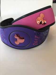 GLITTER Mouse With Bow Decals Pack Of TWO For The Magic Band - Magic band vinyl decals