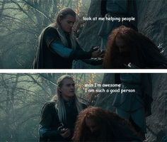You go, Legolas. We're all so proud of you.