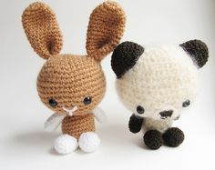 Little Things Blogged: {Amigurumi Bunny and Teddy Bear} Free pattern