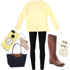Southern tide, longchamp, leggings and riding boots