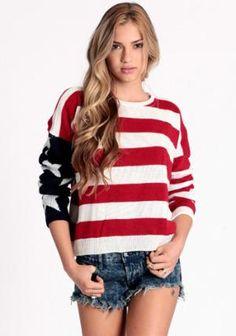 Lizabeth American Flag Sweater by John Galt