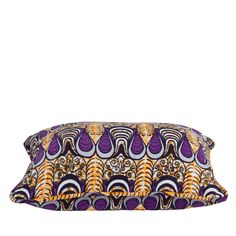 Cushion Covers African Print Drop Purple