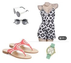 """""""hott day🔥"""" by daisyhenson on Polyvore featuring Jack Rogers, A.J. Morgan and Michele"""