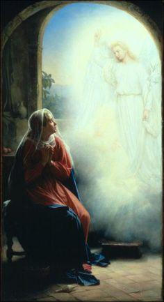 The Annunciation by Carl Heinrich Bloch (1834-1890) Copenhagen, Dinamarca