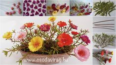 Portulaca Grandiflora, Biscuit, Polymer Clay Flowers, Flower Tutorial, Table Decorations, Garden, Facebook, Home Decor, Cold