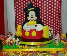 Mickey mouse circus cake