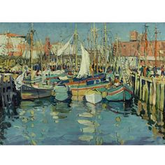 """Gloucester Harbor,"" Jane Peterson, ca. 1916, oil on canvas, 30 x 40"", private collection."