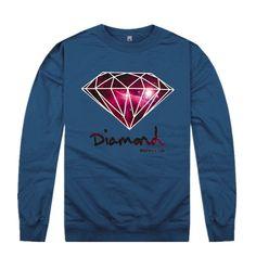 Diamond Supply Co Mens Hiphop Autumn Winter High Fashion Brand Hoodies Fleece Print Pullover Sportswear Sweatshirt