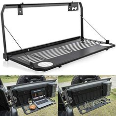 Jeep Wrangler Accessories Discover Yoursme for Jeep Wrangler JL JLU 2018 2019 Door Tailgate Table Rear Door Table Storage Cargo Shelf Foldable Rear Door Support up to Jeep Wrangler Tj, Jeep Jk, Jeep Wrangler Interior, Jeep Doors, 2 Door Jeep, Jeep Wrangler Accessories, Jeep Accessories, Accessories Online, Jeep Camping