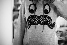 Cute sweatshirt | cute, love, mustache, sweatshirt - inspiring picture on Favim.com