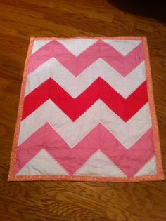 Baby girl chevron love! Maybe in purple instead of pink... Or both