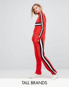 Noisy May Tall Colour Block Seam Casual Trouser