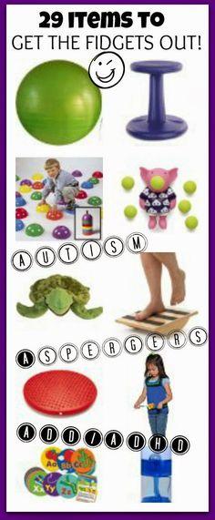 29 useful items to help a fidgety child
